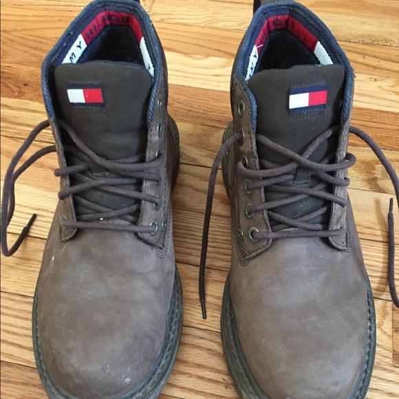 d456fe8f7936 Tommy Hilfiger men s work boots size 10. M 5a638e3aa4c485834fad596c